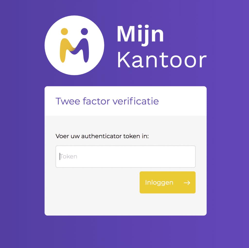 MijnKantoor - Twee factor verificatie